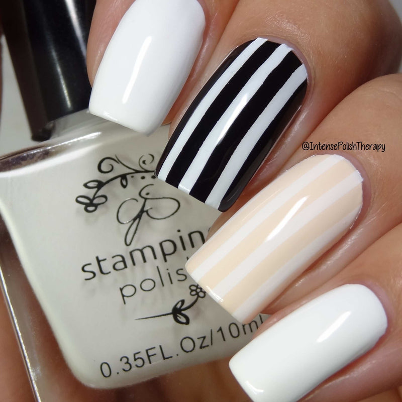 CJS Stamping Polish White - Cordoza Nail Supply
