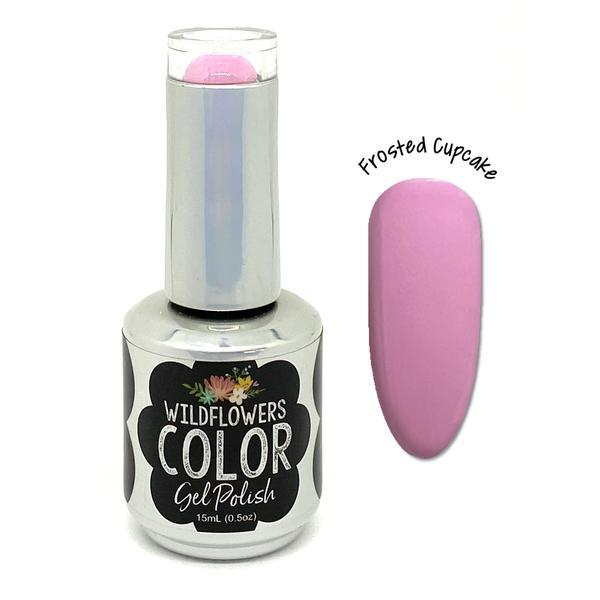 Wildflowers Color Gel Frosted Cupcake - Cordoza Nail Supply