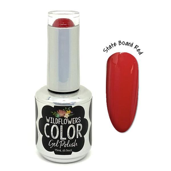 Wildflowers Color Gel State Board Red - Cordoza Nail Supply