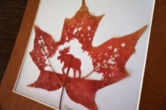 Hand Cut Maple Leaf