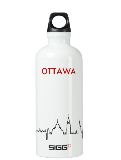 SIGG Water Bottles with Ottawa Skyline