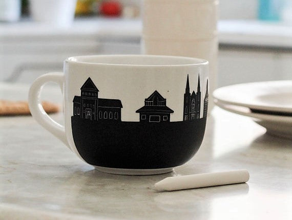 Ottawa's Skyline Chalk Mugs