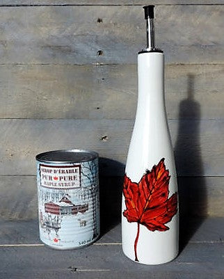 Maple Leaf Hand Painted Oil Dispenser