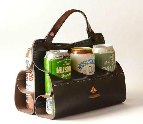 Branded Leather Drink Carrier
