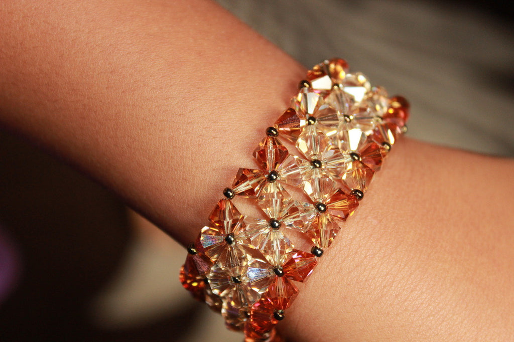 Sunset Crystal Cuff