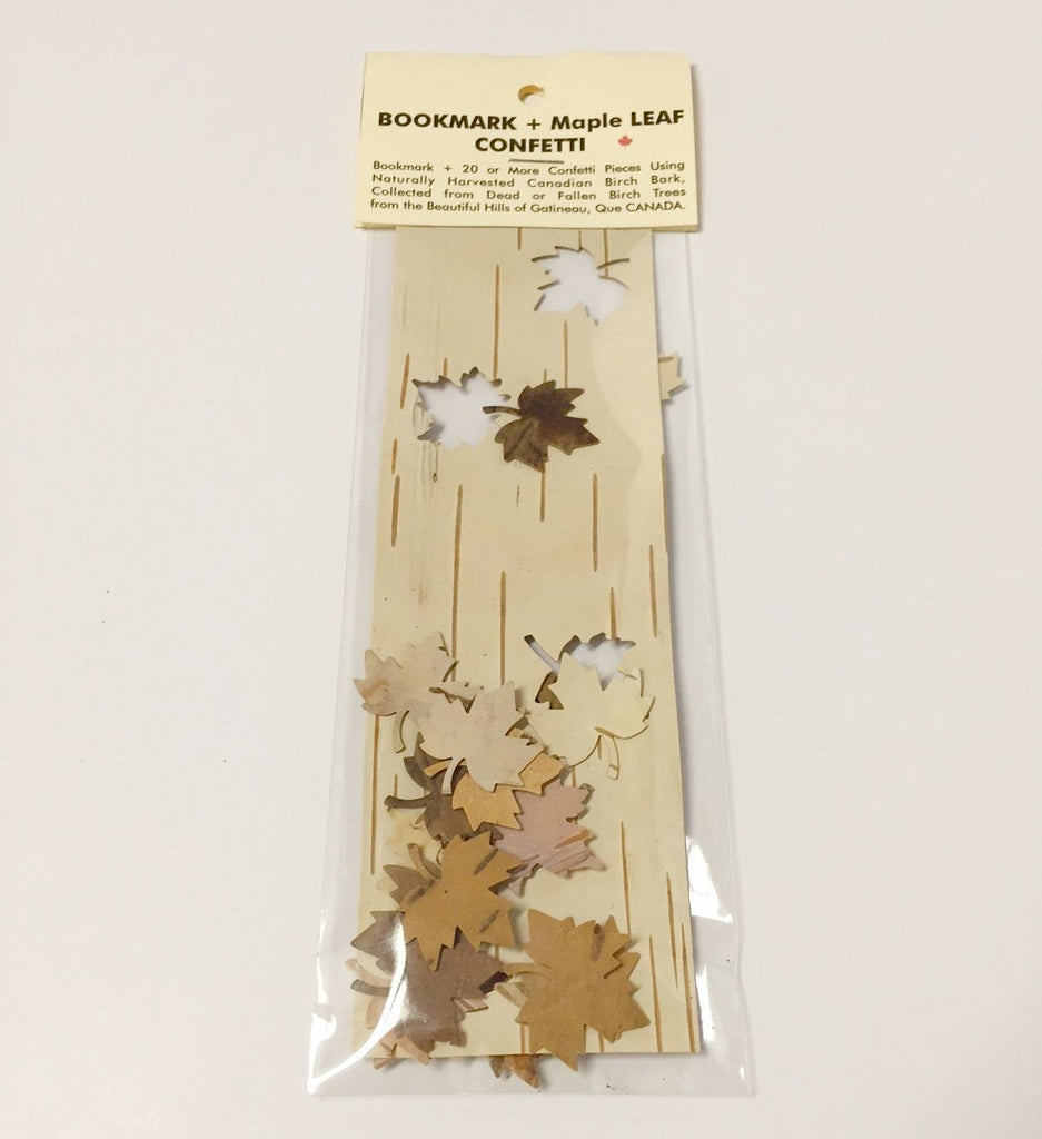 MAPLE LEAF CUT OUT BIRCH BOOKMARKS