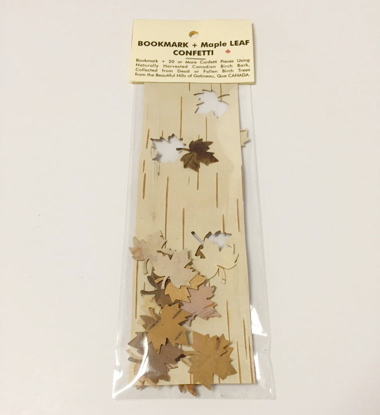 MAPLE LEAF CUT OUT BIRCH BOOKMARK