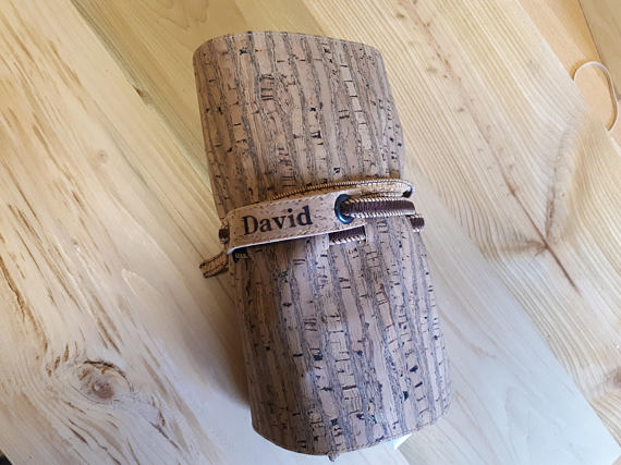 Personalized Cork Cord Travel Roll