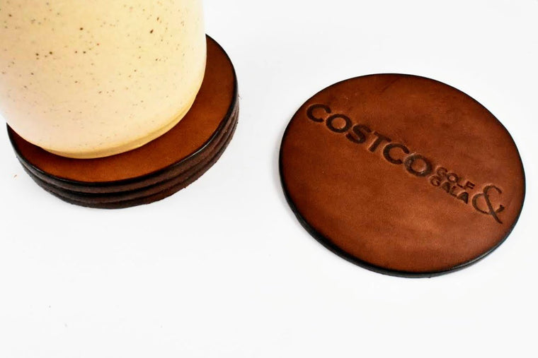 Set of Four Leather Coasters