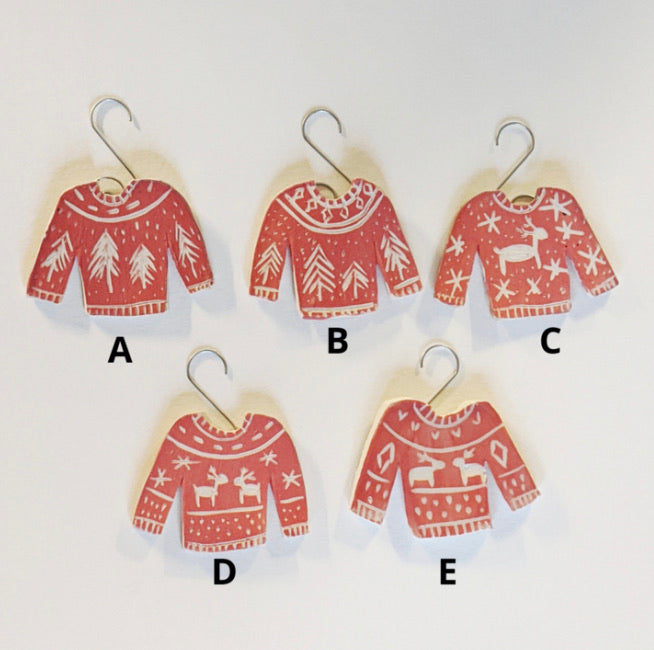Holiday Sweater Ornaments