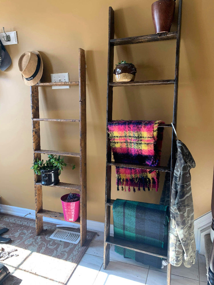 Hand Crafted Blanket & Plant Ladders