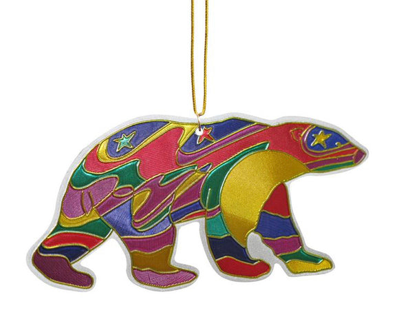 NWT - Alpha Bear Metal Ornament