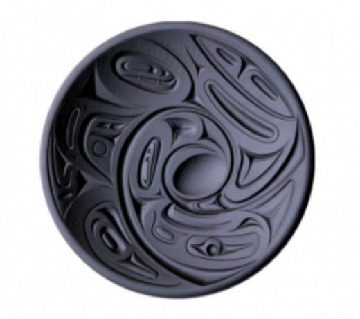 Indigenous Design Glass Platter