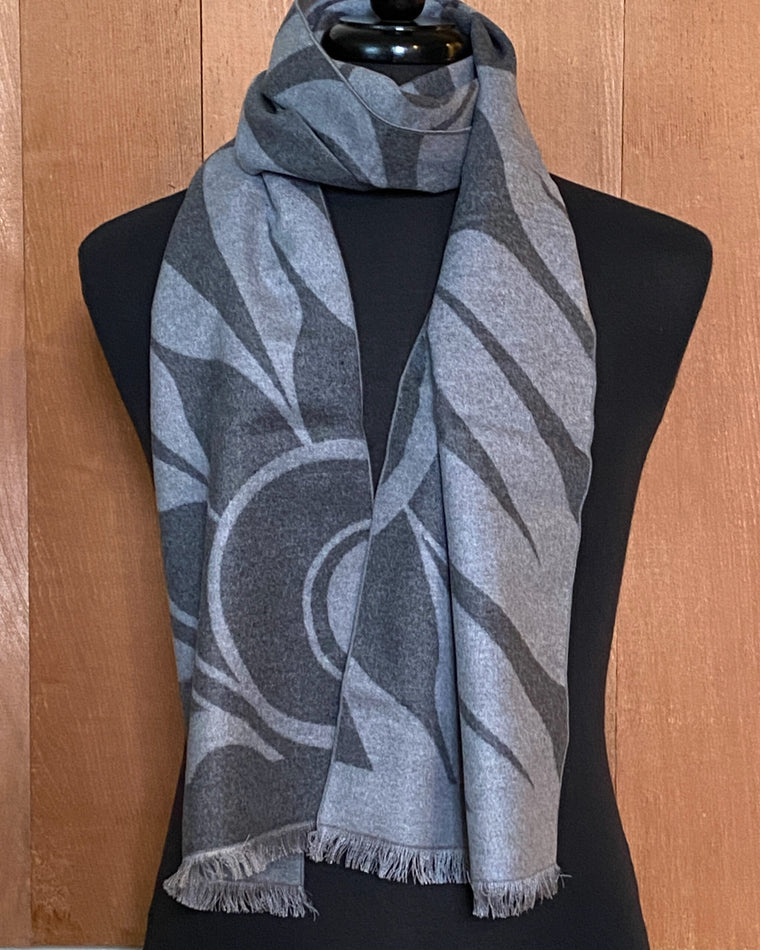 Brushed Silk Indigenous Art Scarves