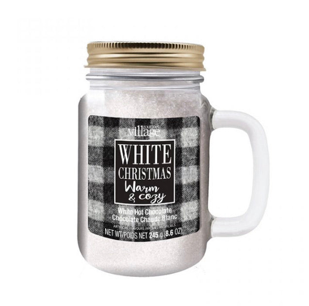 Mason Jar White Hot Chocolate