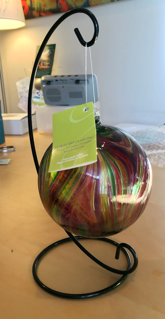 Kitras Hand Blown Glass Ball w/ Stand