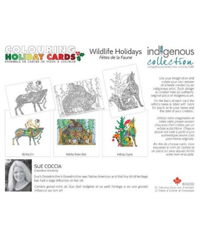 Wildlife Holiday Cards - Colour Your Own