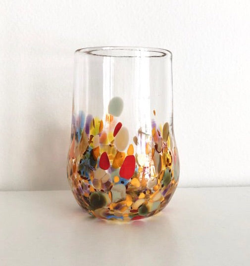 Pair of Hand Blown Stemless Glasses