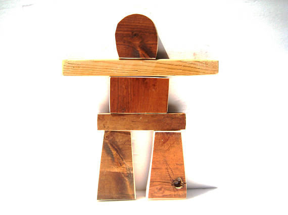 Assemble Your Own Wood Inukshuk