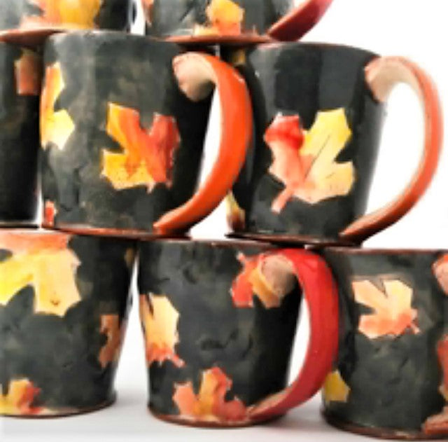 Maple Leaf Coaster & Mug Set