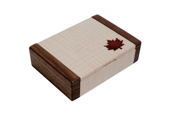 OTTAWA - Wood & Epoxy Maple Leaf Desk Box