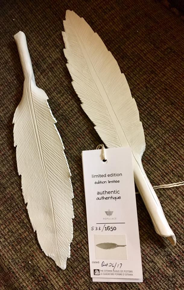 Populace 2017 Limited Edition Ceramic Feathers