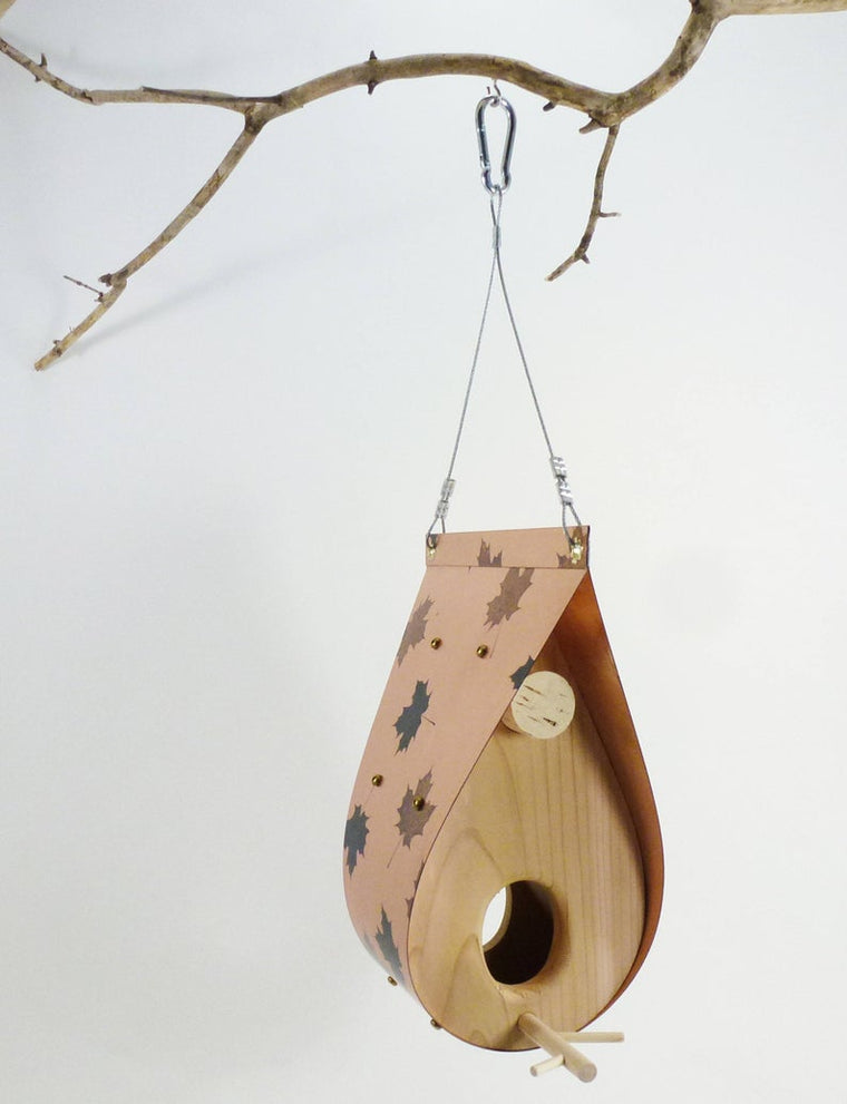 TORONTO - Copper & Cedar Hanging Bird Feeders