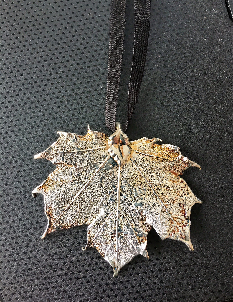 Real Maple Leaves Electroplated in Silver or Copper