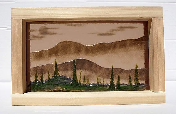 Wild North Fused Glass Art Shadow Box