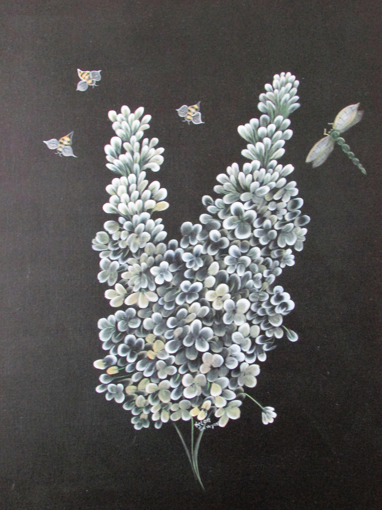 White Lilac & Bees by Helen Sawyer