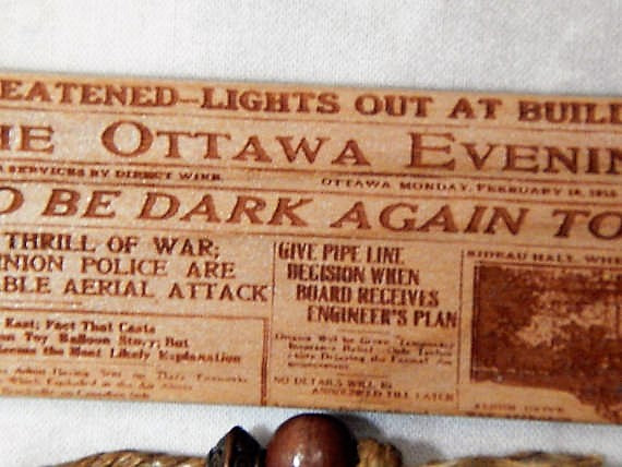 Cherry Wood Ottawa News Bookmark