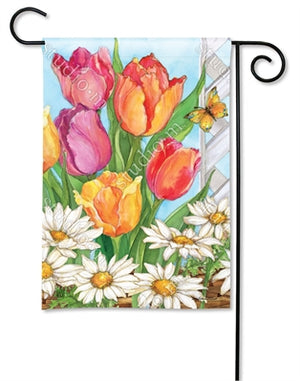 Fresh Tulips Premium Garden Flag