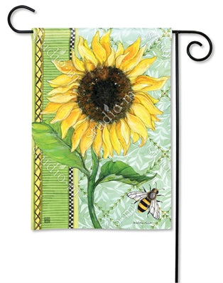 Single Sunflower Premium Garden Flag