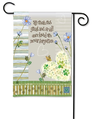 Pawprints on My Heart Premium Garden Flag