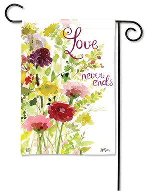 Love Never Ends Premium Garden Flag