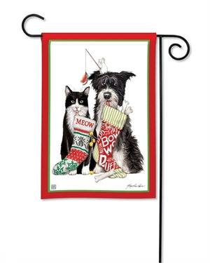 Christmas Dog & Cat Premium Garden Flag