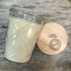 Crisp Cotton - Vintage Glass Jar Candle