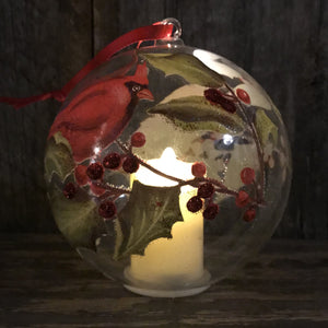 Cardinal by Candlelight Ornament