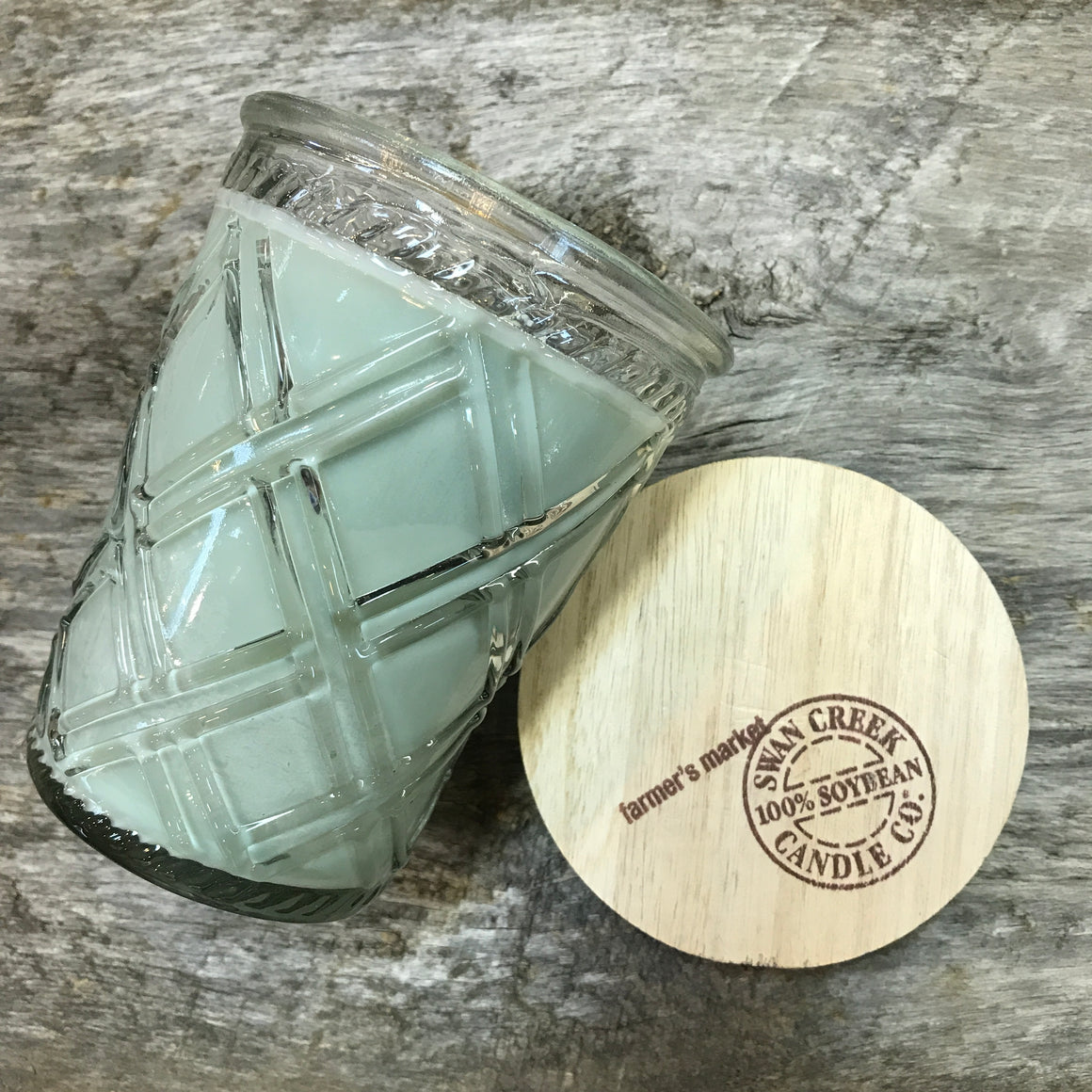 Farmers Market  - Vintage Glass Jar Candle