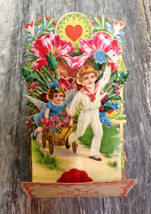 To My Valentine Pop-Up card - vintage #1
