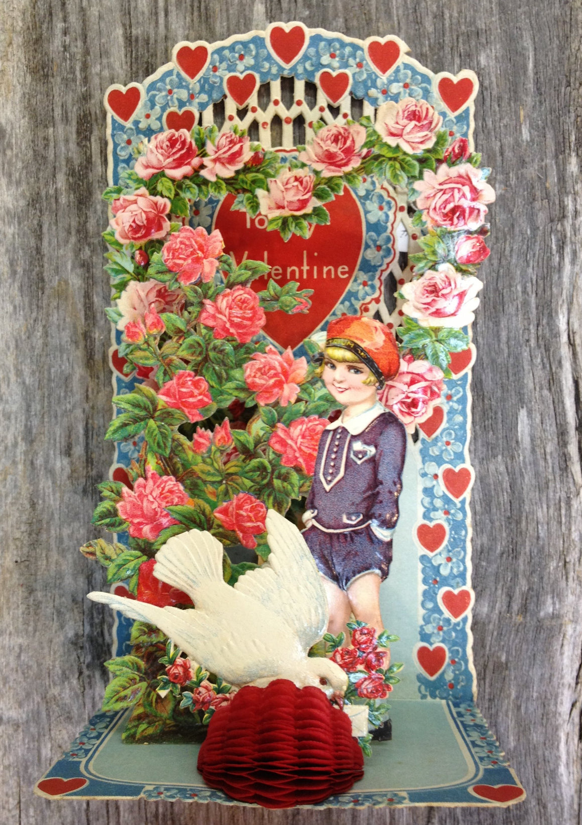 To My Valentine Pop-Up card - vintage #5