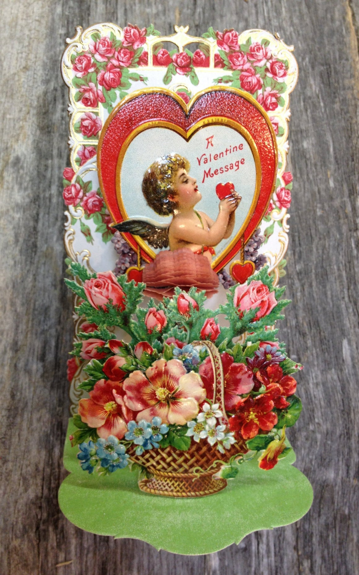 To My Valentine Pop-Up card - vintage #2