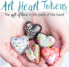 "Art Heart Tokens by Demdaco, 1.5"" Hearts"