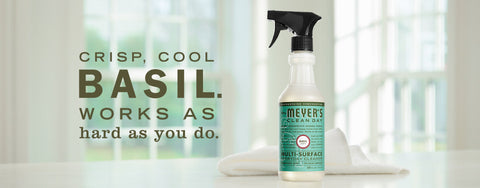 Mrs. Meyers Cleaning Products in Basil Scent