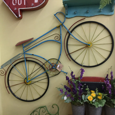 Antiqued Colorful Bicycle