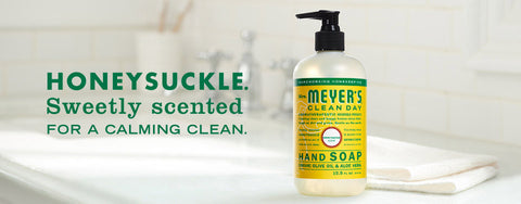 Mrs. Meyers Cleaning Products in Honeysuckle Scent