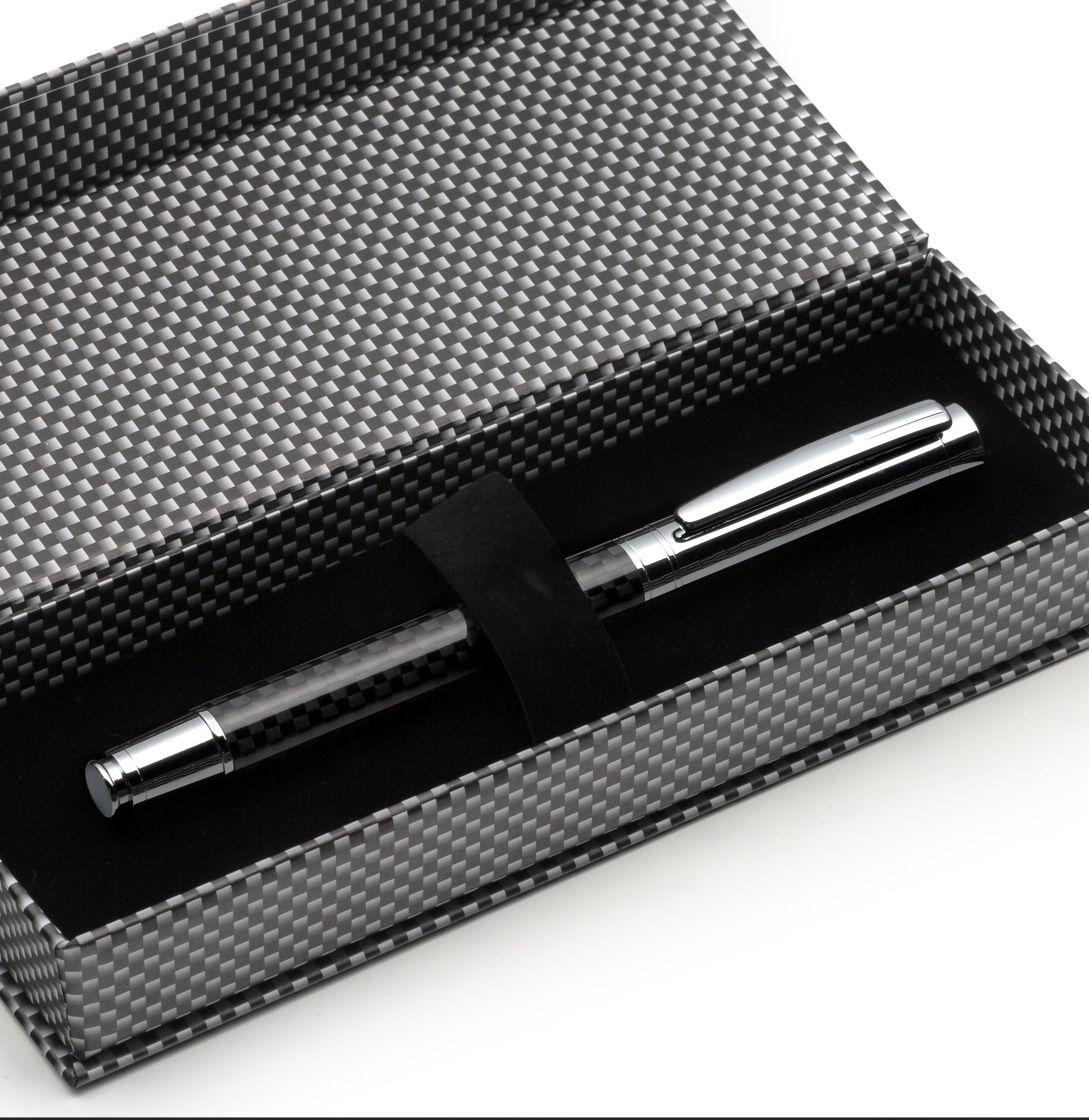 Carbon Fiber Roller Pen - Exquisite Refillable Metal Calligraphy Ballpoint Pen
