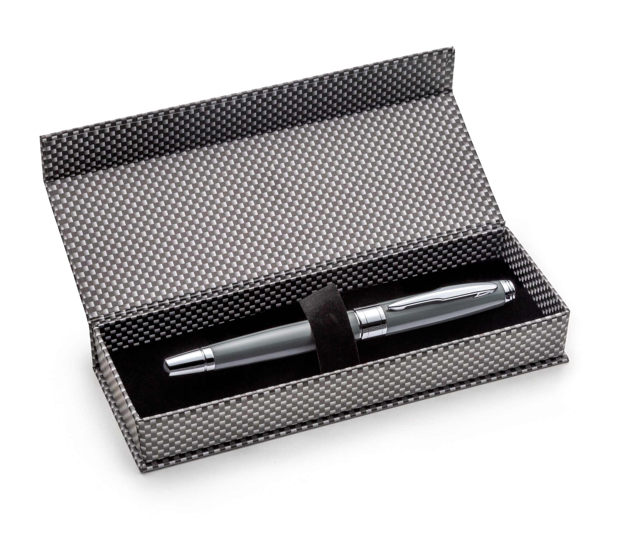 Prestigious Metal Body Rollerball Pen Gray Set with Schneider Ink Refill