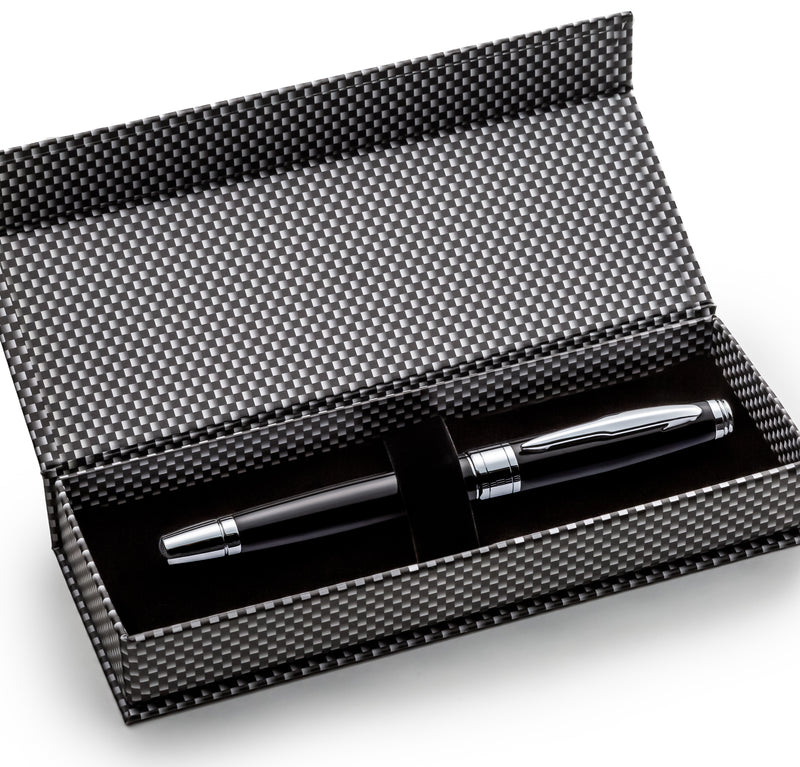 Black Fountain Pen Set with Schmidt Fine Nib