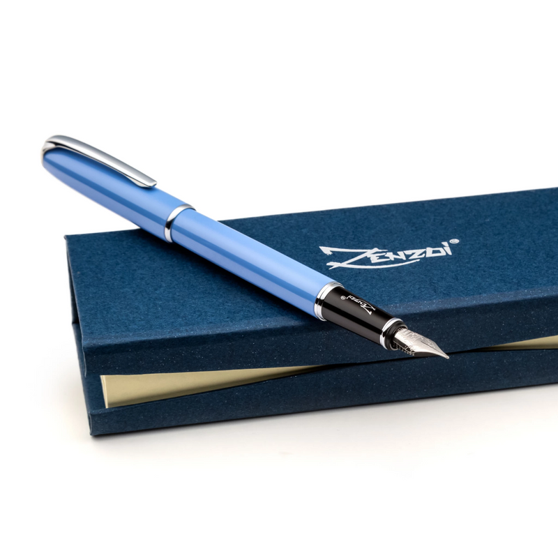 zenzoi blue fountain pen